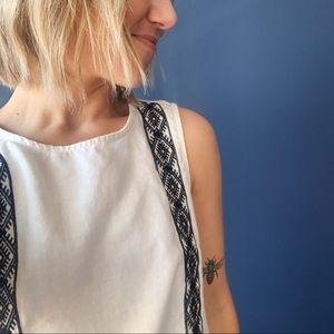 Madewell XS sleeveless linen top